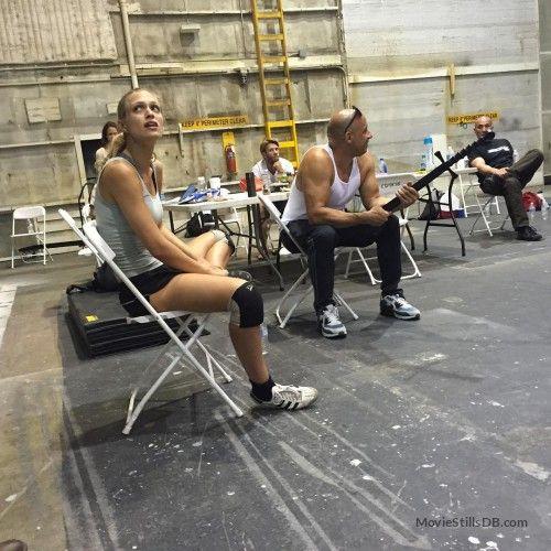 The Last Witch Hunter  - Behind the scenes photo of Vin Diesel & Julie Engelbrecht