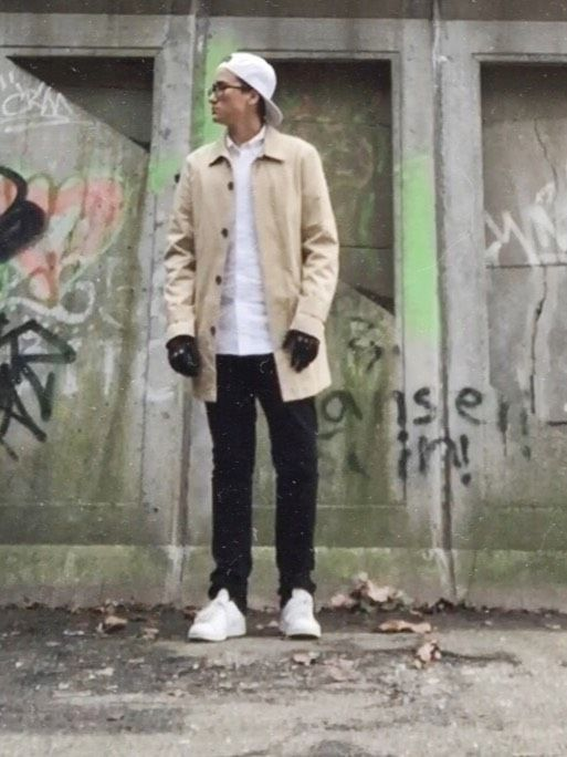 Formal street style by Alfiebeier. See what else fits him. #Fitbay #streetstyle #sneakers #trench