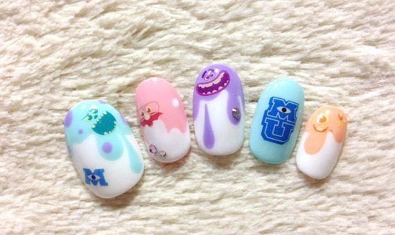 Nail design #monsters,Inc #kawaii #chiekonakayama #JPN くりぃぃぃむぽにぃbyなかやまちえこ4