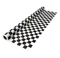 "Black and White Checker Banquet Rolls - 40"" x 100' - 4 pk. SAMS CLUB ONLINE"