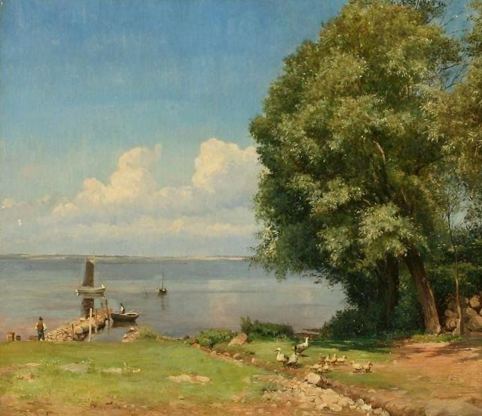 """""""Summerday by the Beach"""" by Edvard Petersen (1841-1911)"""