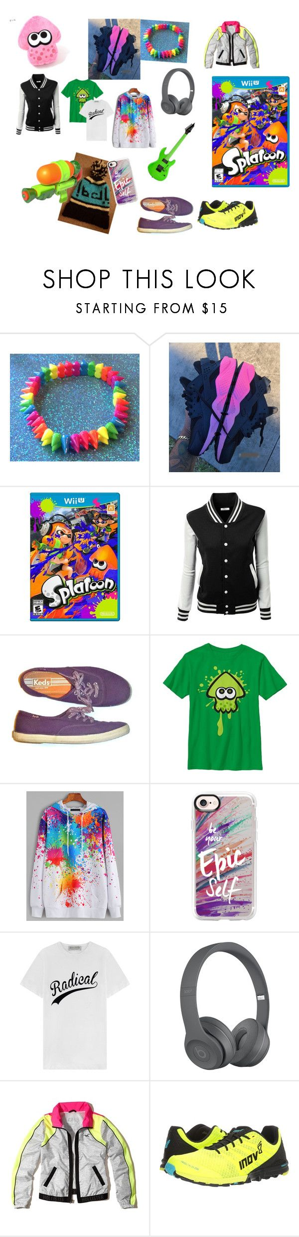 """You're a Kid You're a Squid"" by cookiepony101 ❤ liked on Polyvore featuring Keds, WithChic, Casetify, Être Cécile, Hollister Co., Inov-8 and Zone"