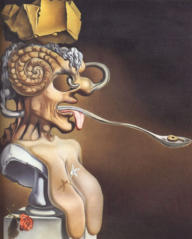 Portrait of Picasso - Salvador Dali