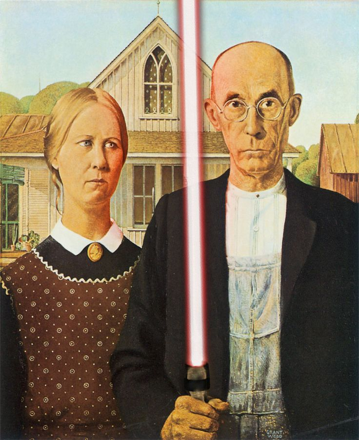 American Gothic - Grant Wood - classical-paintings-art-history-star-wars-elements-david-hamilton