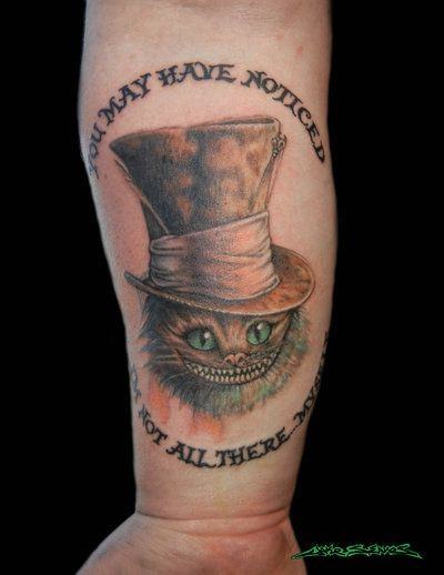 Alice in wonderland cheshire pinterest tattoo for Tattoo shops in chattanooga