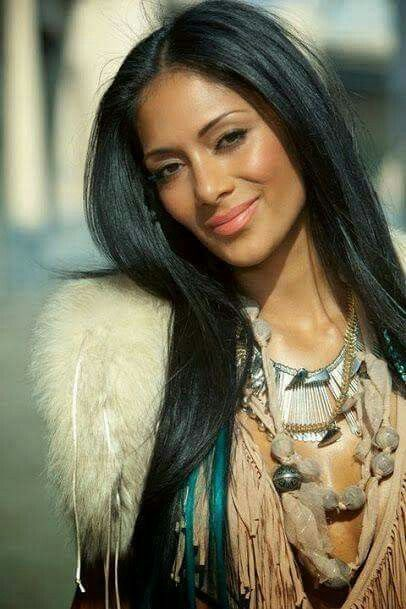 nude long hair american indian women