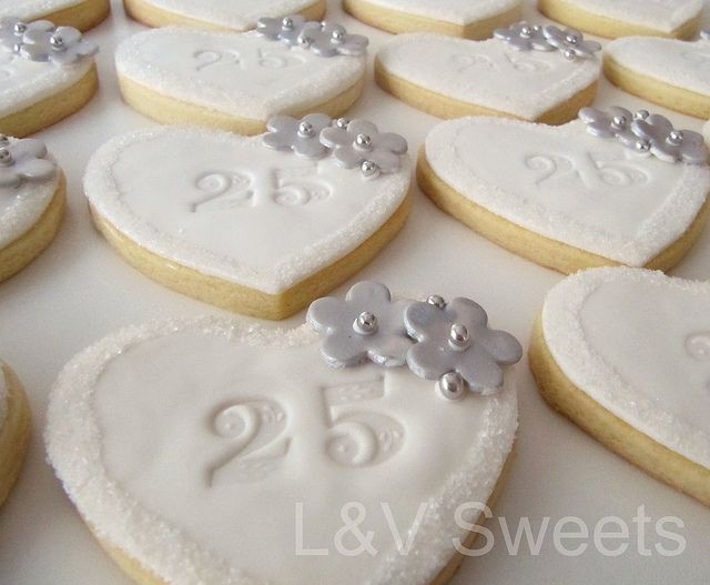 25th Anniversary cookies | Flickr - Photo Sharing!