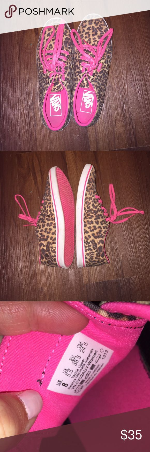 Leopard Print Vans Lightly worn leopard printed Vans. Very cute and comfy, just don't wear as much anymore. Offers welcome! Vans Shoes Sneakers