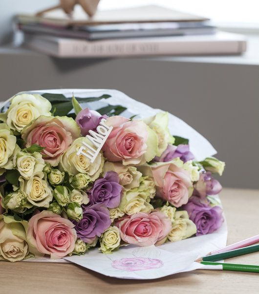 Vakre roser er alltid populært.