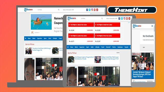 Tribunnexs Premium Blogger Template Free Download By Themehint In 2020 Free Blogger Templates Blogger Templates Templates Free Download