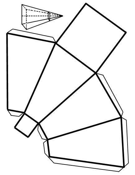 Como fazer uma pirâmide truncada com base quadrada