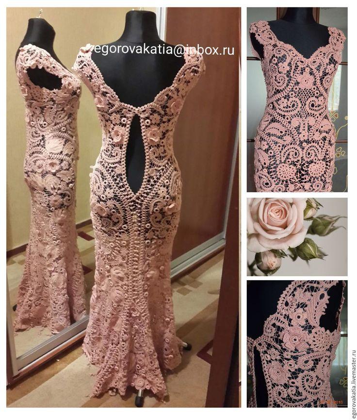 """Купить платье в пол  """"Rose Quartz""""- из коллекции """"французские кружева""""…"""