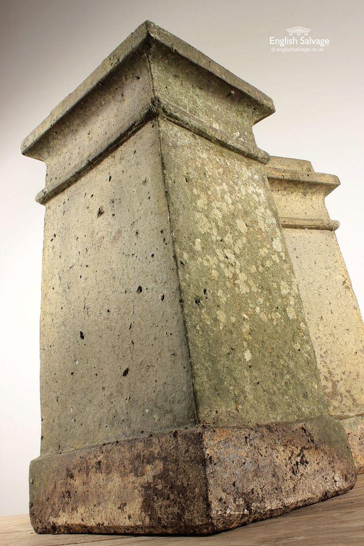 Reclaimed Buff Terracotta Square Chimney Pots