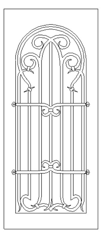 Custom Wrought Iron Door Grilles Designed And Built By Southeastern  Ornamental Iron Co Inc..
