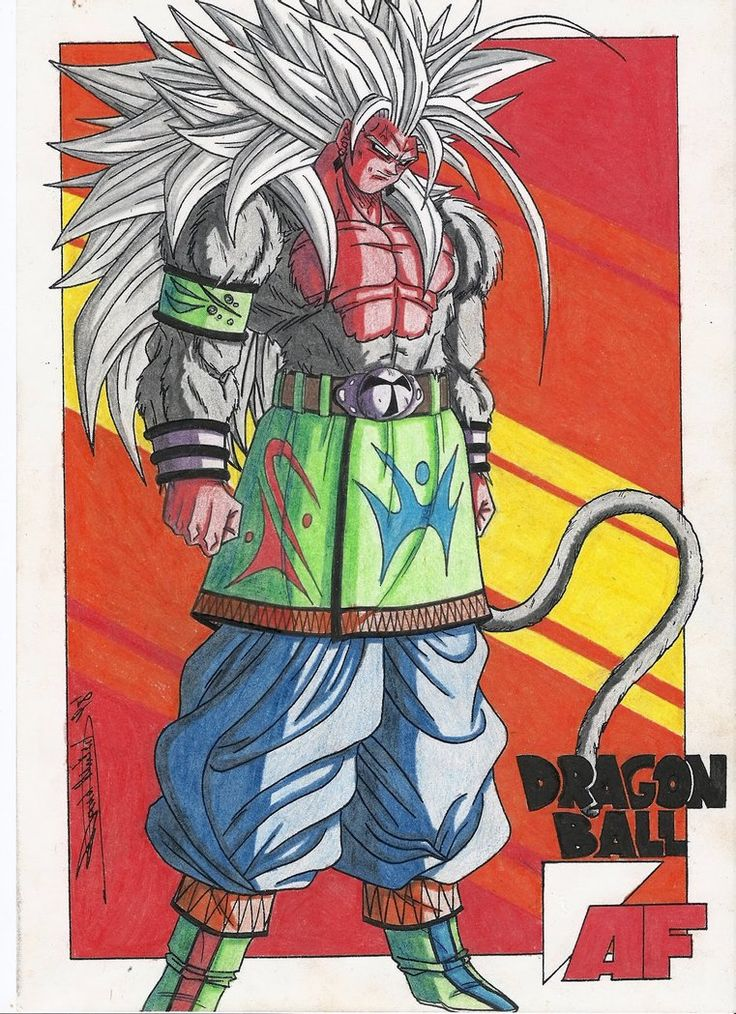 The ORIGINAL Drawing of SSJ5 Goku Image! by S1impikenz.deviantart.com on @DeviantArt