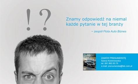 reklama dla miesięcznika FlotaAutoBiznes