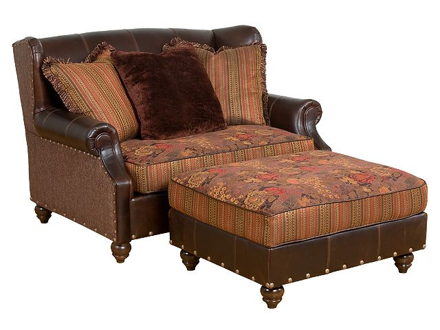 Shop For King Hickory Lucy Fabric/Leather Settee, And Other Living Room  Settees At Schmitt Furniture Company In New Albany, IN.
