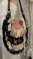 Handmade Vintage Lace Crochet Victorian Fringe Bag Gypsy Boho Hobo Purse tmyers