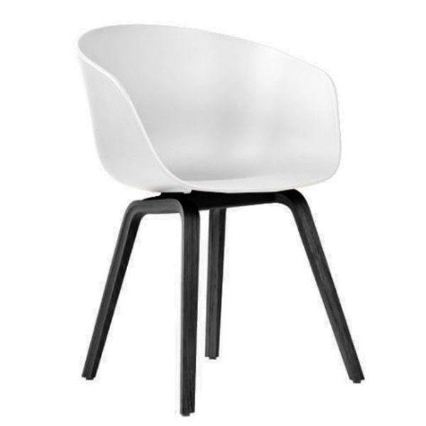 About a Chair AAC22 stoel met zwart onderstel   Hay