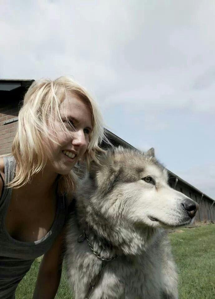 With my dog sky