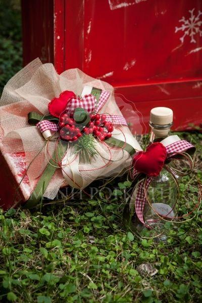 Χριστουγεννιάτικο σετ βάπτισης με ταρανδούλι και ντουλαπάκι με στεφάνι