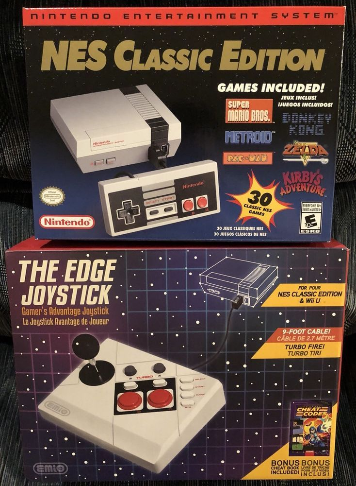 Nintendo Nes Classic Mini 1st Run With The Edge Joystick Lot