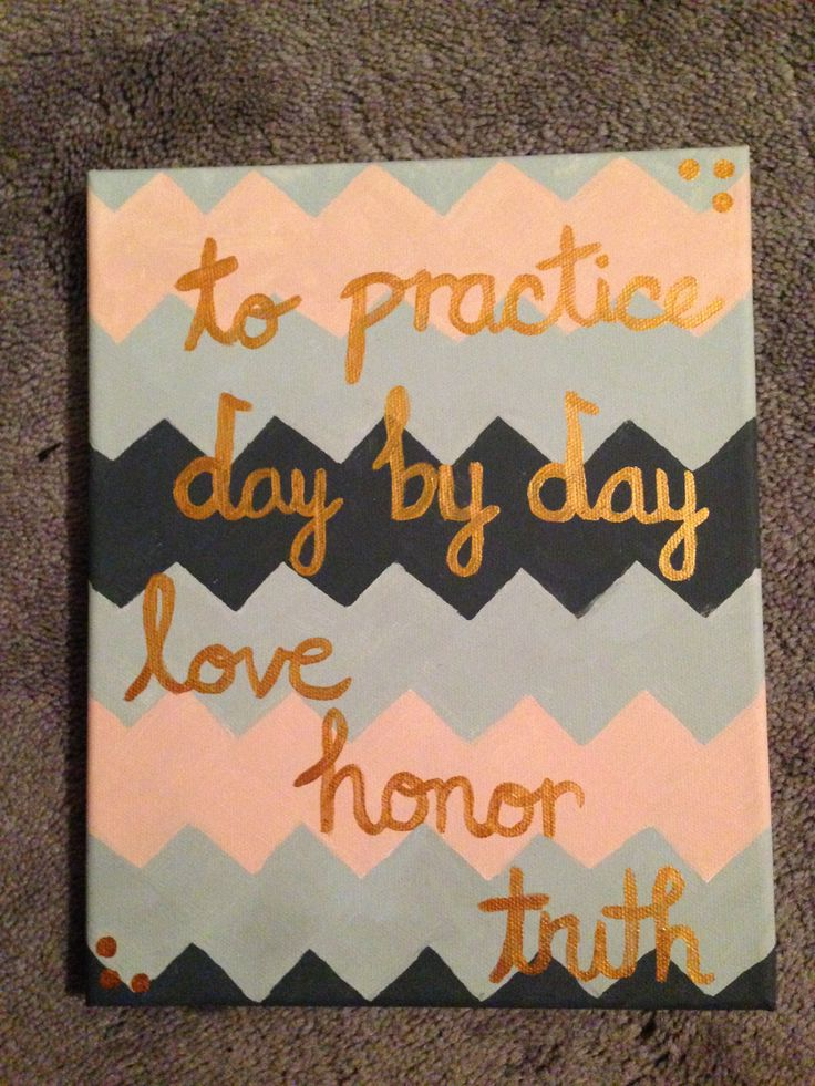 Phi Mu canvas painting.