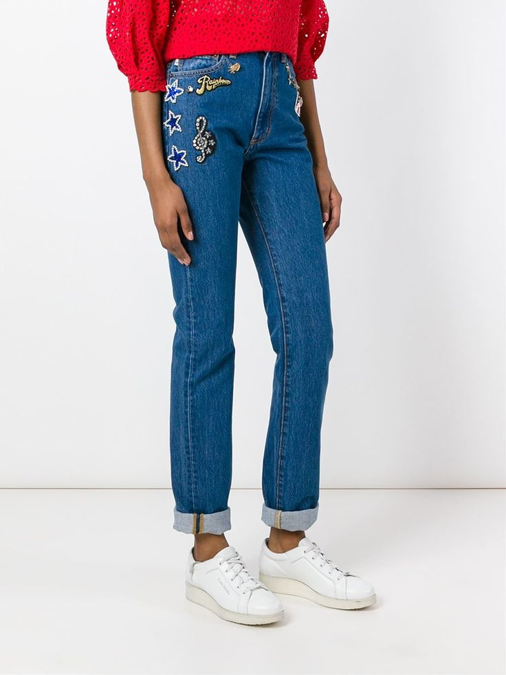 #marcjacobs #jeans #patches #embellished #women #fashion www.jofre.eu