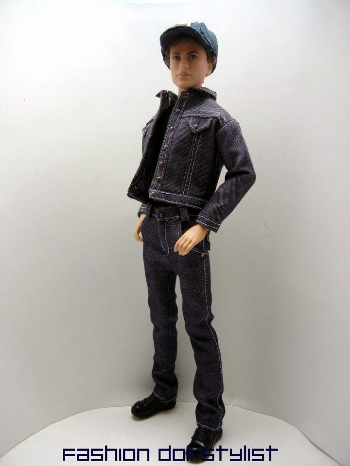 How to make a jean jacket and jeans at Fashion Doll Stylist