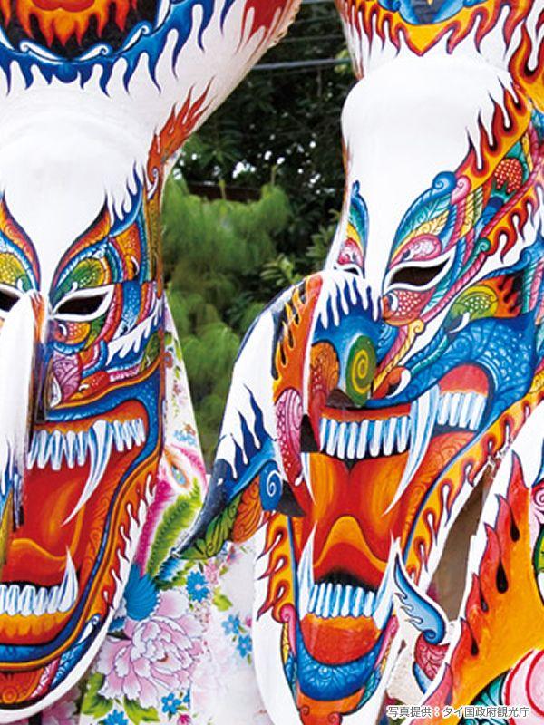 タイの有名な奇祭!ピーターコン・フェスティバル(Phi Ta Khon known as Ghost Festival in Thailand)