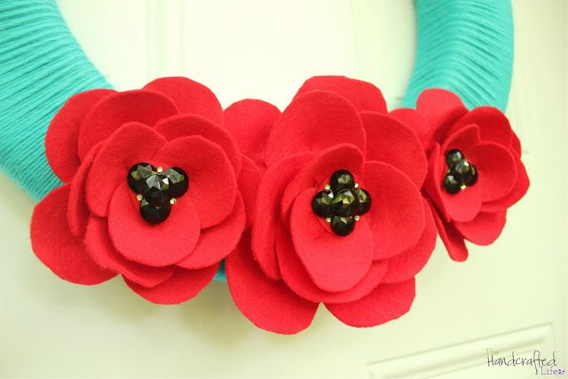 I am going to make this look for our class remembrance day wreath with layered tissue paper circles and buttons.