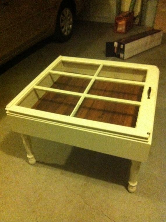 Old Window Turned Into A Coffee Table   This Could Be A Great Way To Use