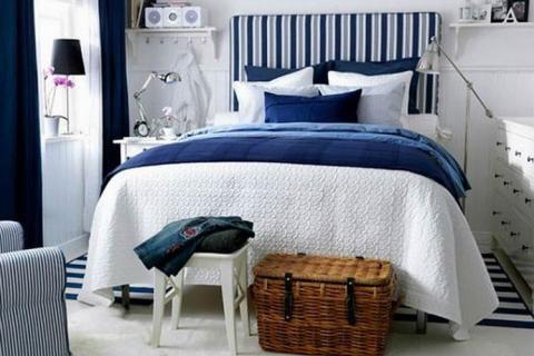 Морские мотивы в спальне