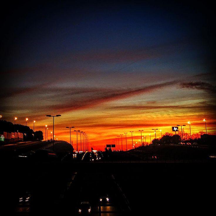 #atardecer #afternoon #sunset #orangesky #sky #horizon