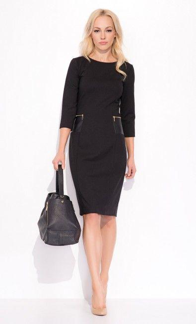 Czarna sukienka YOLANDA ZAP215038 - ZAPS - Sklep Zaps | on-line fashion