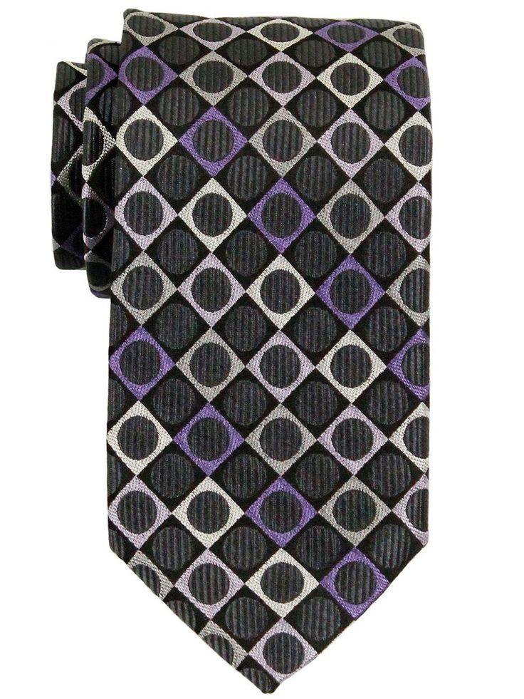 Boy's Tie 23295 Purple/Grey