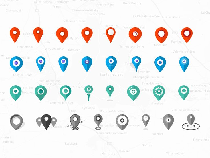 Pin Location Map Free Vector Graphic On Pixabay: 32x Pins Location. Icons Set #Freebies