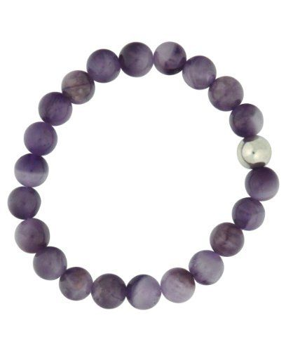 Amethyst Meditation Bracelet, 21 Beads Buddha Groove. $16.00. Meditation Wrist Mala. Stretchy bracelets, fits most wrist sizes, Strung in the USA. Bead size: 8 mm, Bead count: 21 + counter bead. Gemstone: Amethyst. Sterling silver counter/Guru bead