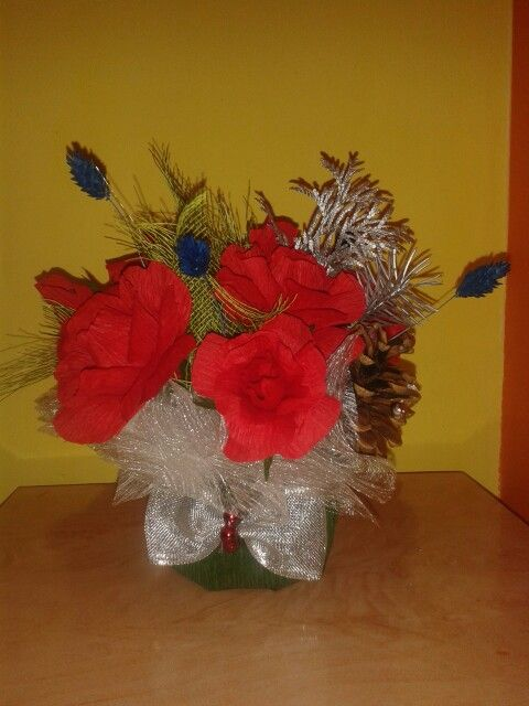 Aranjament floral cu bomboane
