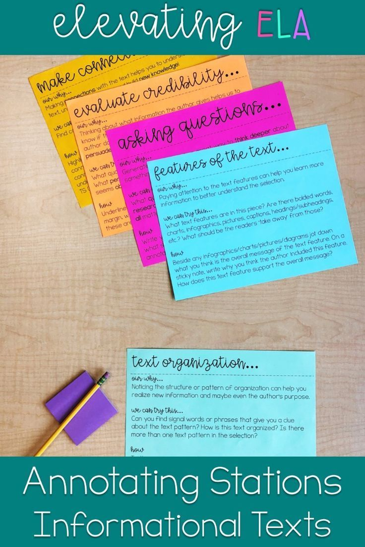 Annotating text stations annotating informational texts