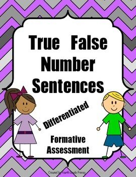True False Number Sentences