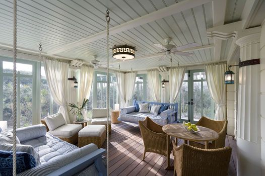 Sunroom: Decor Ideas, Screens Porches, Sun Porches, Sleep Porches, Seaside Florida, Beaches Houses, Porches Swings, Sun Rooms, Sunroom