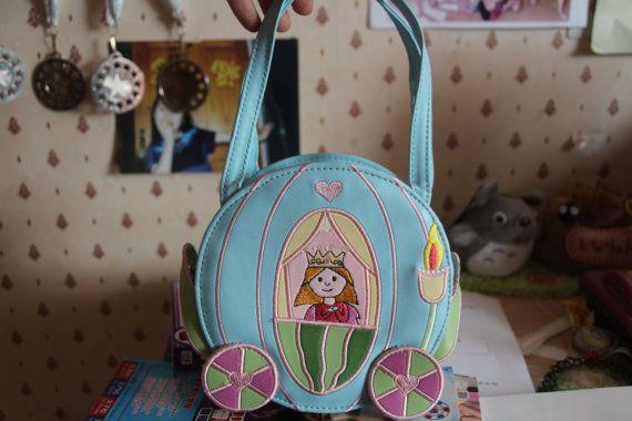 LOLITA gyaru harajuku pastel goth cinderella cosplay pale blue kawaii bag handbag accessory japan japanese