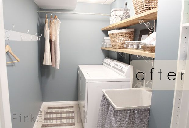 DIY: A Quick & Cheap Laundry Room Refresh | pink little notebook #transformation #before+after #DIY
