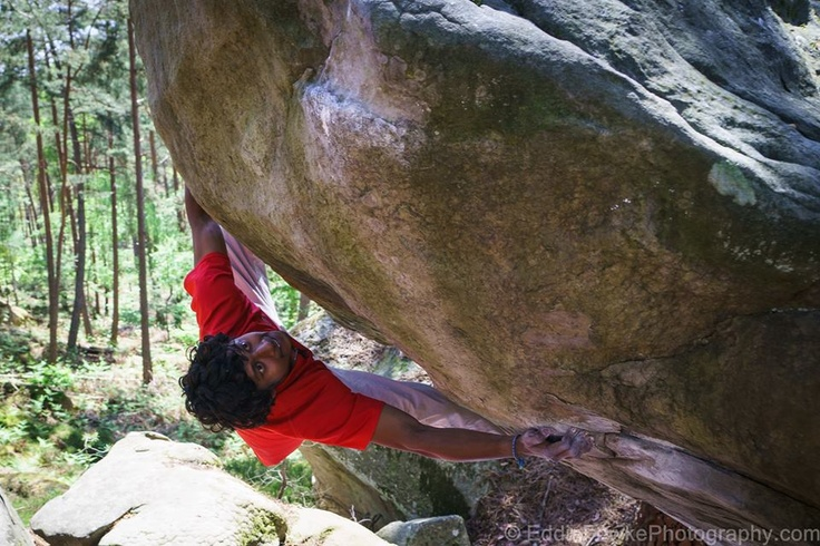 Sandeep - one of the best climbers in India, at Magic Wood