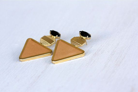 Statement earrings. Golden Triangle by ShaniJacobiJewellery