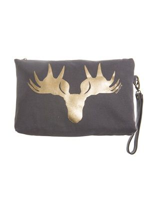 Barfota spring/summer 2014 Toilet bag canvas moose metallic www.barfota.no