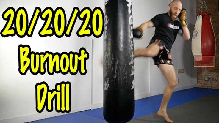 Intense Muay Thai Heavy Bag Drill and Workout Circuit