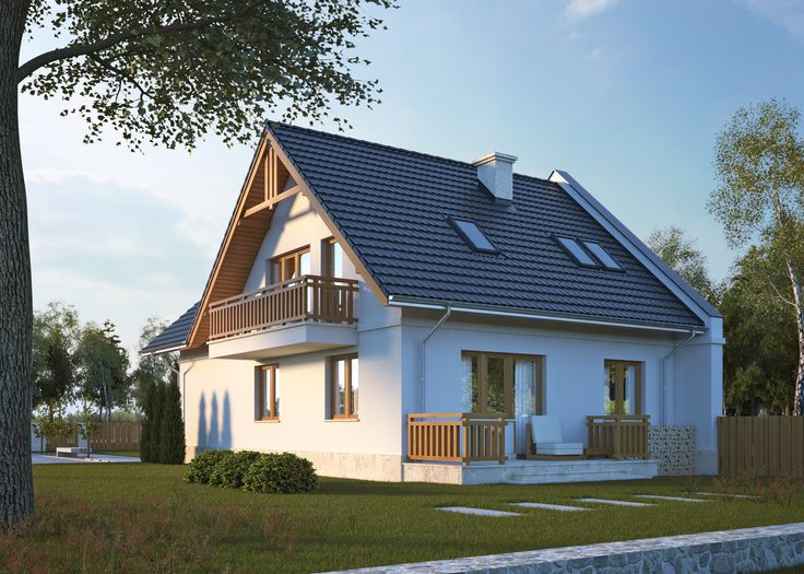 LK&752 Parterowy dom z poddaszem użytkowym. Zarówno na parterze, jak i na poddaszu znajdują się kuchnie oraz pokoje dzienne - dlatego LK&752 może pełnić również rolę domu 2-rodzinnego. Szczególy na: http://lk-projekt.pl/lkand752-produkt-831.html