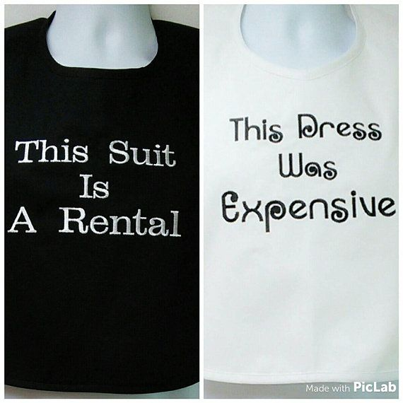 Adult Bib Bride And Groom Funny Bridal Gag Gift Expensive Dress
